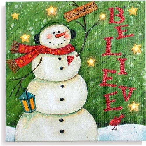 Stealstreet Ss-Ug-Mna-150 Led Light Up Holiday Christmas Wall Sign, Snowman Believe