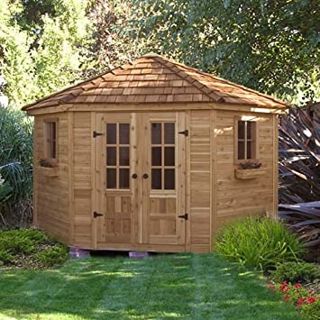 Pool supply storage shed free 8 x 10 gambrel shed plans for Pool shed plans free