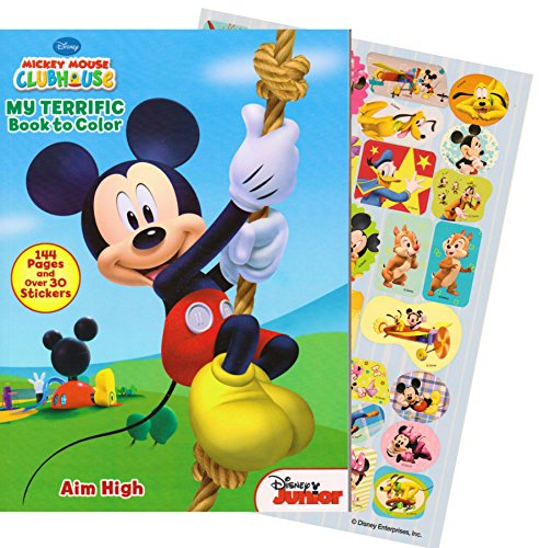 Disney Mickey Mouse Giant Coloring Book with Stickers (144 Pages) - 1