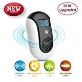Pest Control Ultrasonic Repeller, Plug in, Indoor Outdoor Electronic Control Rodent, Mosquitoes, Mice, Ants, Rats, Roaches,Spiders, Bugs, Flies, Eco-Friendly, NO Chemicals, Non-Toxic Human & Pet Saf (Color: White-1)