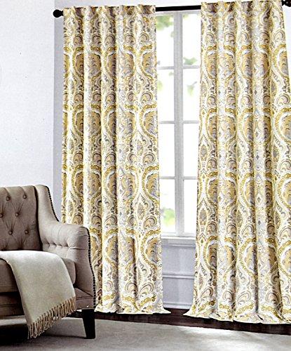 Tahari Home Camden Paisley Scrolls Window Panels 52 By 96