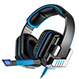 GOTD KOTION EACH G8000 Stereo Headset Headphone With Call Mic/Microphone, Blue