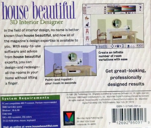 House beautiful 3d interior design software computer for Interior design computer programs