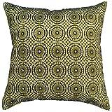 Avarada Circular Twinkle Checkered Decorative Throw Pillow Cover 16x16 Inch Green