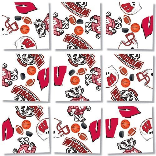 b. dazzle University of Wisconsin Badgers Scramble Squares Puzzle