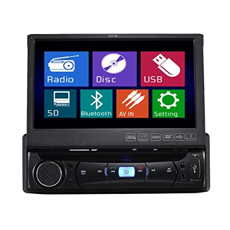 TUVVA KSD7843B 1-DIN Autoradio multimédia DVD / CD / USB / AUX-IN / MP4 / MP3 Radio Bluetooth Écran LCD tactile 18cm avec télécommande