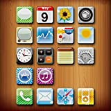 GoodLucky365 18pcs Phone Icon Magnet, iPhone App Magnets, Fridge Magnets Funny