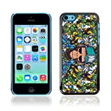 CaseCaptain Black Hard Back Case Cover Apple iPhone 5C / Badass Graphiti Monkey Pattern /
