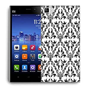 Snoogg Grey Pattern Design Designer Protective Phone Back Case Cover For Xiaomi Mi 3