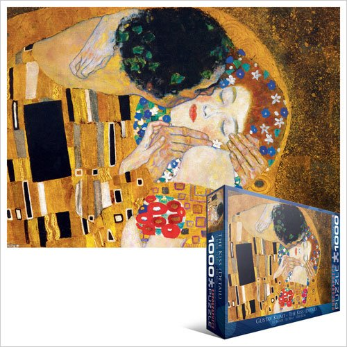 Cheap Fun EuroGraphics The Kiss (detail) by Gustav Klimt 1000 Piece Jigsaw Puzzle (B004LTD2NI)