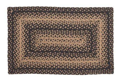 Ihf Home Decor New Braided Rug Ebony Design Rectangular