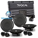"""pkg Focal Solid-4 4-Channel Amplifier + 2 Sets of IS165 6.5"""" Component Speakers System"""