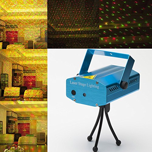 Gbb Led Red&Green Projector Strobe Flash Holographic Disco Party Lighting Light Mini Protable Voice-Activated Version With Tripod For Club Dj Disco Bar Stage House Etc,Xmas Sales! Get Yours Now, Best Price Of This Year.