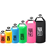 2L/3L/5L/10L/15L/20L/30L 500D Tarpaulin Heavey-Duty PVC Water Proof Dry Bag Sack for Kayaking/Boating/Canoeing/Fishing/Rafting/Swimming/Camping/Snowboarding (Color: Black, Tamaño: 30L)
