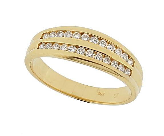 Orphelia Women's Ring Gold-Diamond Collection 750 Yellow Gold with Diamond 0,25 ct) Round White