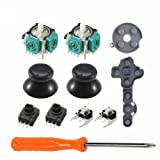 11 in 1 3D Analog Stick Sensor Potentiometers + Thumb Sticks Joystick+ LT RT Trigger Switch Button + Tactile Switch Bumper Button + Conductive Rubber pad for Xbox 360 Controller-Black