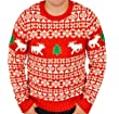 Ugly Christmas Sweater - Holiday Reindeer Pullover Sweater By Festified