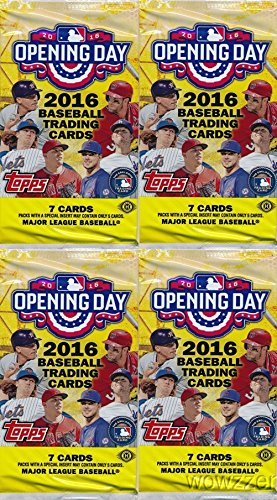 2016 Topps Opening Day Mlb Baseball Lot Of Four Factory Sealed