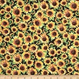 Sunflower Trails Sunflowers Yellow Fabric By The Yard