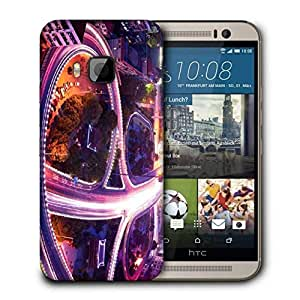 Snoogg City Roads Printed Protective Phone Back Case Cover For HTC One M9
