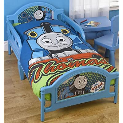 Ready Steady Bed Kids Thomas The Tank Engine Toddler Junior Cot Bed 75cm x 146cm Approx.