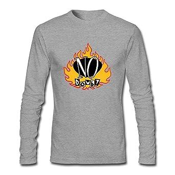 Rosar Men's No Doubt Tragic Kingdom Art Long Sleeve T Shirt Grey