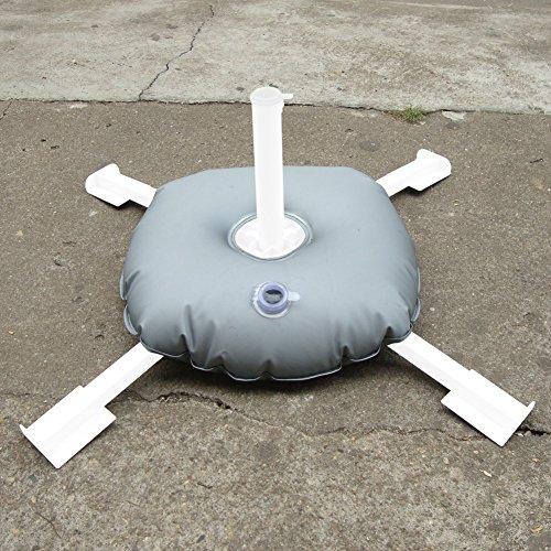 Portable Deck Squares : 해외 휴대용 foldable 라운드 광장 파티오 야외 해변 우산 깃 기본베이스 무게 가방