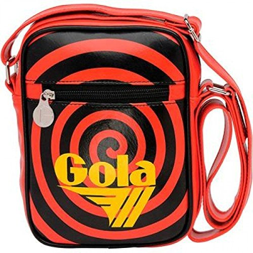 Borsello Gola Borsa Tracolla Uomo Donna Shoulder Bag Mini maclaine spiral red-black-yellow