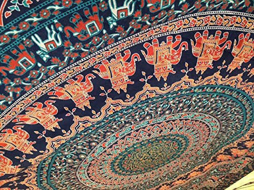 Popular-Twin-Hippie-Indian-Tapestry-Elephant-Mandala-Throw-Wall-Hanging-Gypsy-Bedspread-By-Popular-Handicrafts