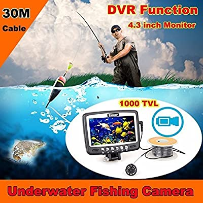 "Eyoyo 30m 4.3"" Monitor Underwater Camera Ice/sea/boat Fish Finder Video Recording DVR"