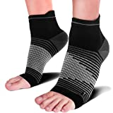 PAPLUS Compression Foot Sleeves for Men & Women - Compression Socks for Feet for Plantar Fasciitis Treatment for Everyday Use, Heel Pain Relief, Plantar Fasciitis Men, and Arch Support (Color: Black(1 Pair), Tamaño: Large (Men's 9-12/Women's 9.5-12.5))