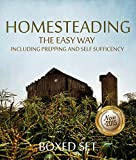 img - for Homesteading The Easy Way Including Prepping And Self Sufficency: 3 Books In 1 Boxed Set book / textbook / text book