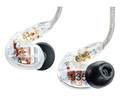 Shure JSH SE535 Écouteurs intra auriculaires professionnels 3 voies Translucides