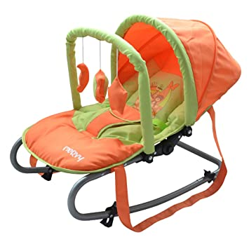 transat balancelle bebe avec capote et jouets balou le nounours