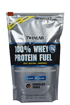 Twinlab 100% Whey Protein Fuel, Chocolate Surge, 1 Pound