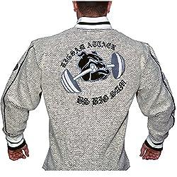 BIG SAM SweatJacket Sweater Sweatshirt Hoody UNCLE BODY DOG LOGO *3507*