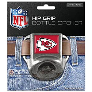 NFL Kansas City Chiefs Hip Grip Bottle Opener