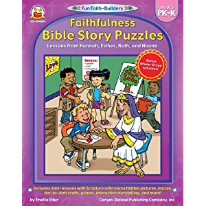 Faithfulness Bible Story Puzzles, Grades PK - K: Lessons from Hannah, Esther, Ruth, and Naomi (Fun Faith-Builders)