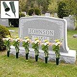 Evelots Set Of 6 Cemetery Grave Patriotic Memorial Veterans Flower Cone Vase- 7