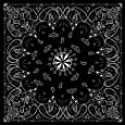 ZANheadgear Paisley 100 Percentage Cotton Premium Bandanna (Black)