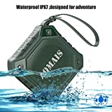 AOMAIS Ultra Portable Wireless Bluetooth Speakers with 8W Output Loud Sound,Waterproof IPX7 Floating,Stereo Pairing,for iPhone7/iPod/iPad/Samsung/Cell Phones/Tablets/PC/Laptop(Green)