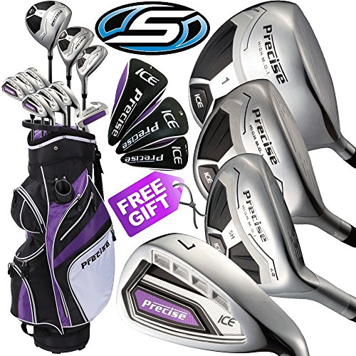 50-OFF-SKYMAX-PRECISE-ICE-LADIES-COMPLETE-GOLF-SET-IRONS-WOODS-TROLLEY-BAG