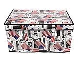 CiplaPlast Branco Foldable Fabric Canvas Clothes Laundry Box Toys Storage Box