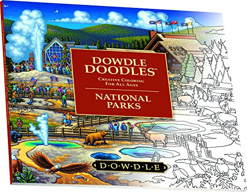 Dowdle-Folk-Art-Dowdle-Doodles-Yellowstone-National-Park-2016-Coloring-Book