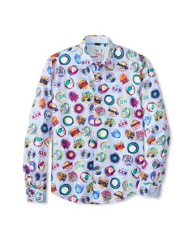 Desigual Men's Manolos Happening Long Sleeve Woven Shirt
