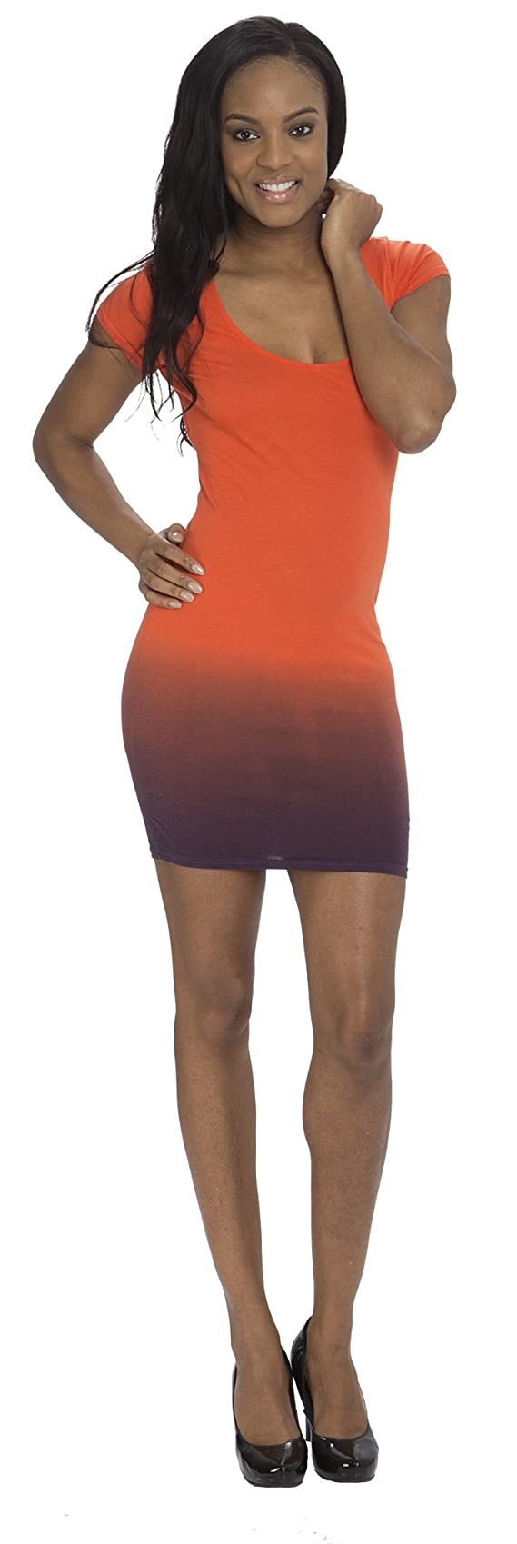 Baby Phat Ombre Effect Dress with Zip and Cut Out Detail