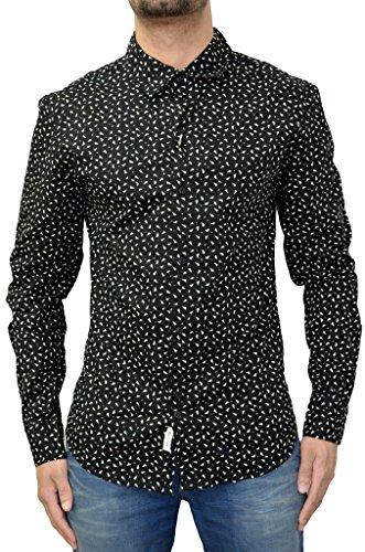 Bellfield -  Camicia Casual  -  Vestito modellante  - Maniche lunghe  - Uomo Nero  nero