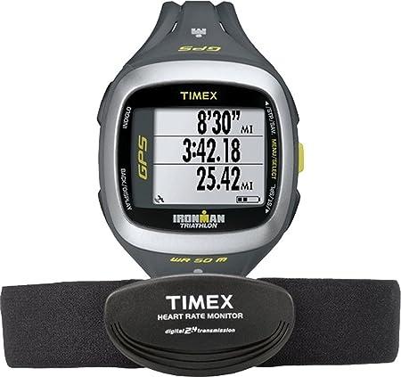 Timex Ironman Run formateur GPS 2.0 avec HRM - Affichage numérique et noir Bracelet en résine T 5K743 F7