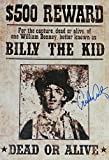 Emilio Estevez Signed Billy The Kid 13x19 Wanted Poster - Certified Authentic