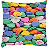 Snoogg Daily candy Digitally Printed Cushion Cover throw pillows 14 x 14 Inch